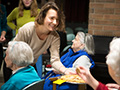 student with McGraw House residents