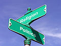 politics and religion sign