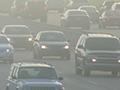 Traffic in smog